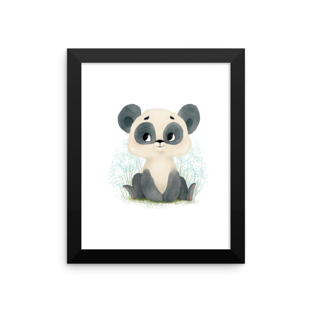 Animal Framed Nursery Print – Baby Panda