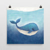 Nautical Nursery Print - The Whale