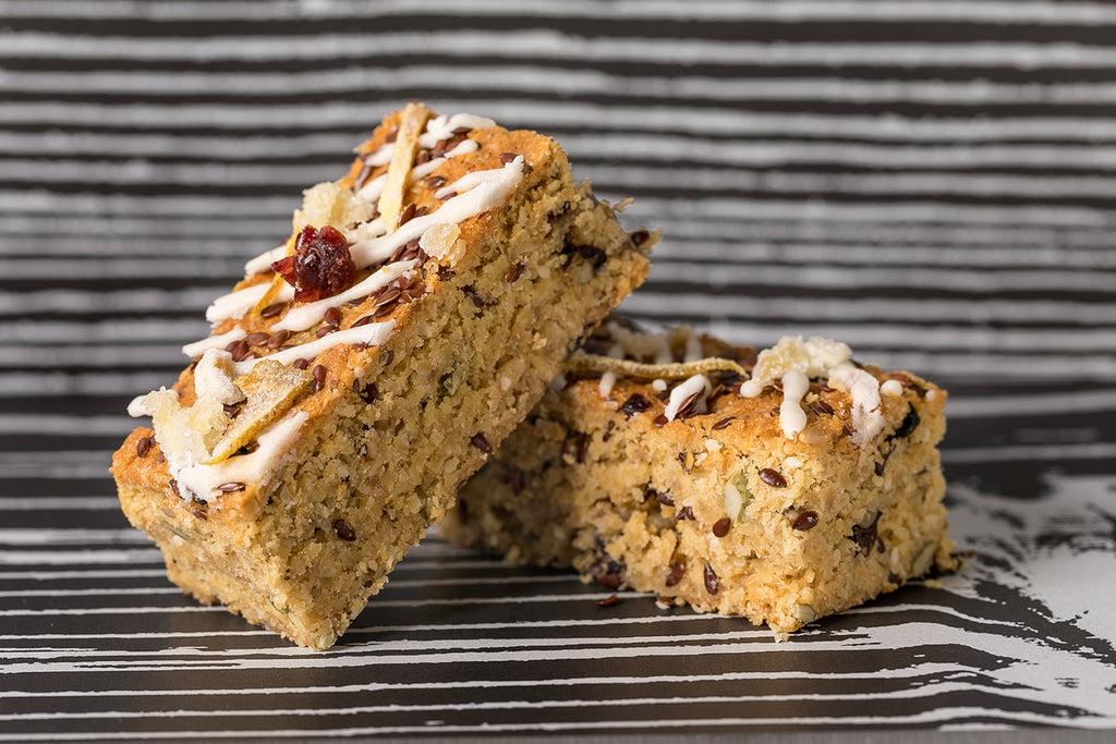 Chia Sunflower and Apricot Seeded Slice (Vegan)