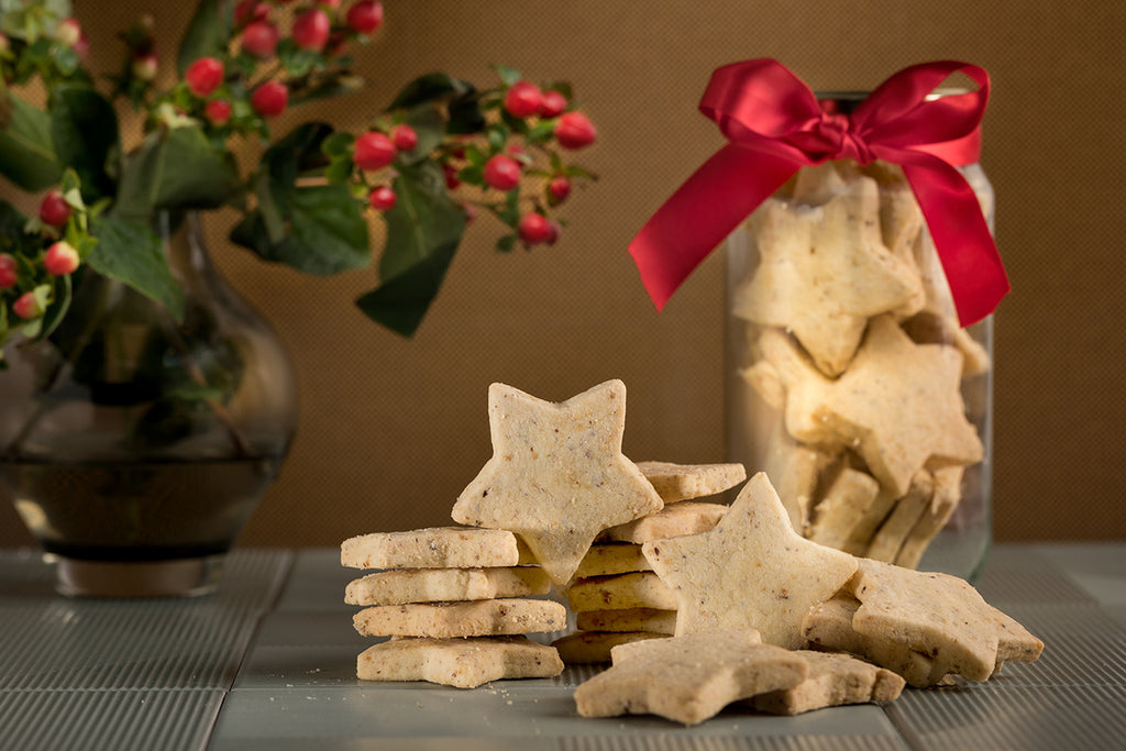 Citrus Hazelnut Shortbread