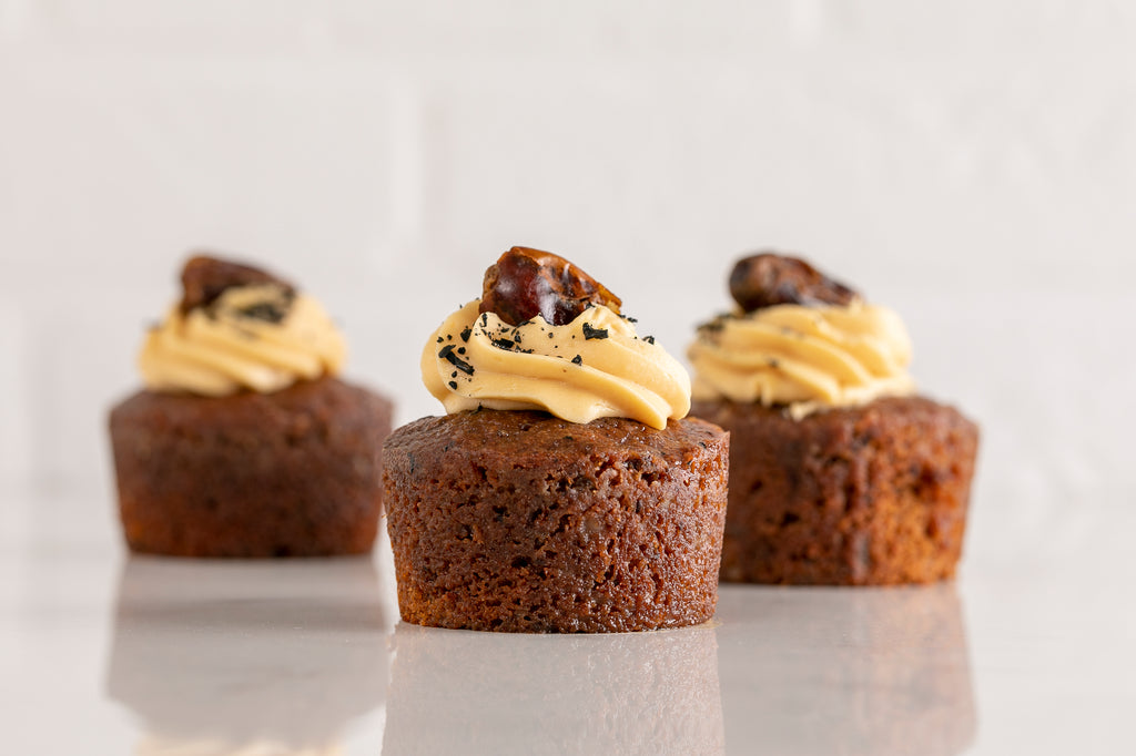 Sticky Date Pudding with Butterscotch Icing (Wheat free)