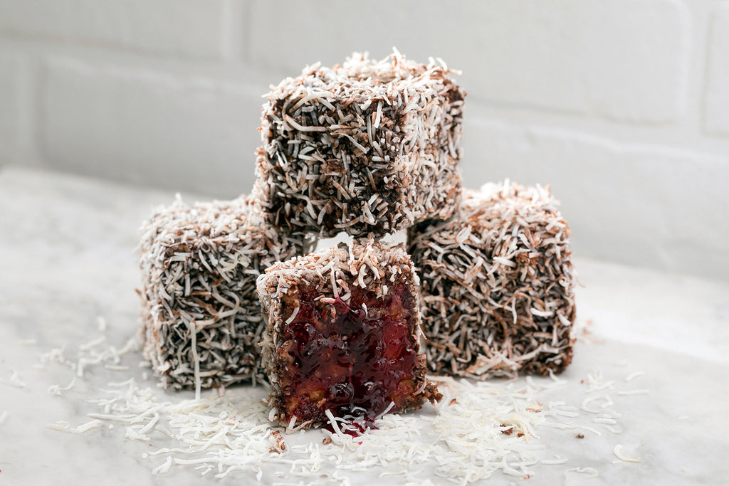 Chocolate & Jam Lamington