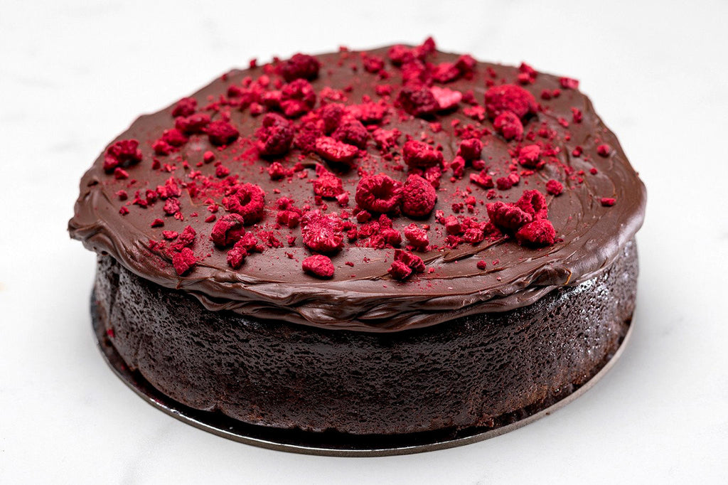 Raspberry Chocolate Mudcake with Double Chocolate Ganache / 14 -18 serves