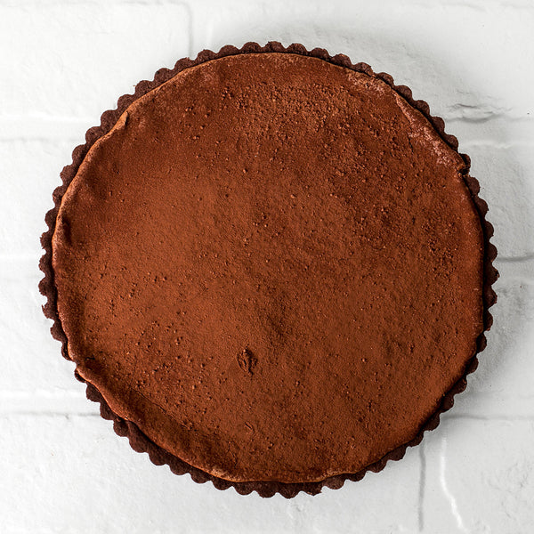Baked Dark Chocolate Apricot Tart  /   12-14 serves