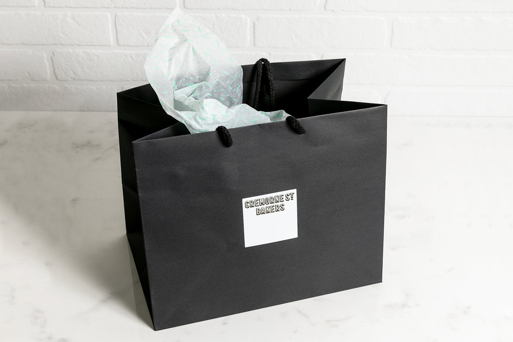 Mothers Day Hamper Black Retail Shopping Bag 'Empty and Ready to Fill'