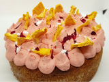 Coconut, Pineapple & Hibiscus Cake