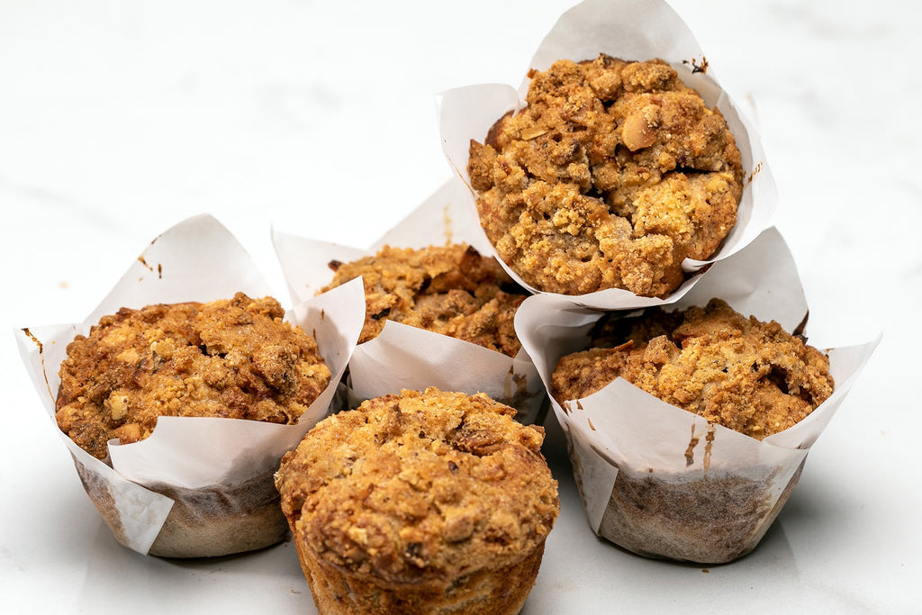 Spiced Plum Crumble Muffin
