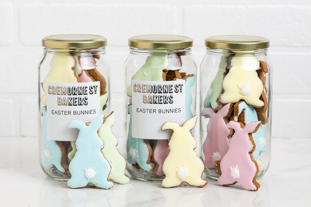 Easter Gift Jar of 'Coloured Bunnies'