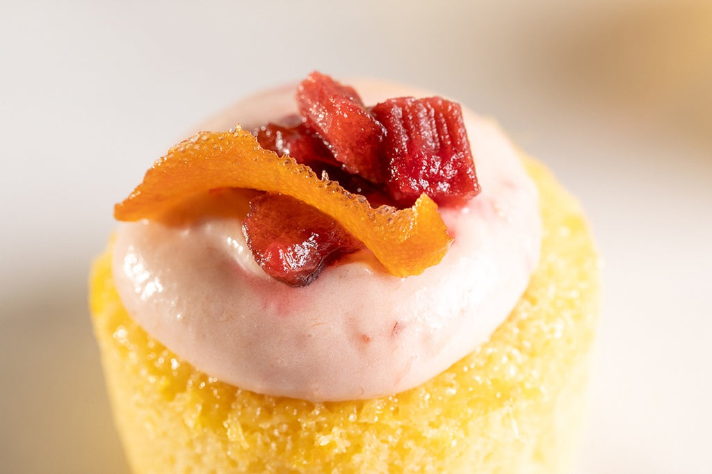 Roasted Rhubarb & Orange Syrup Cake