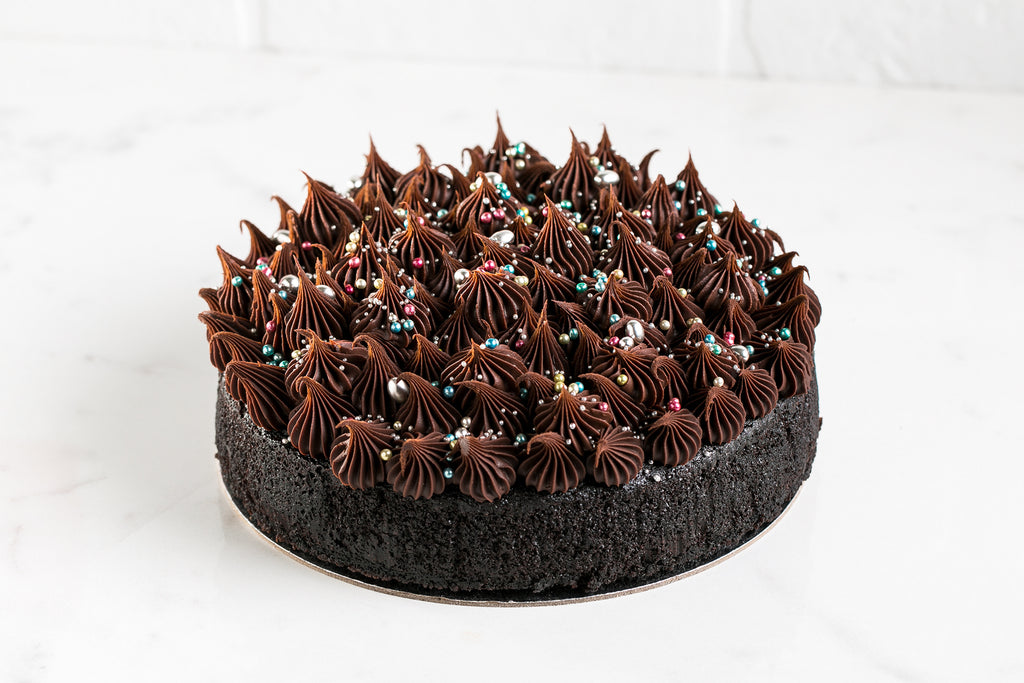Double Chocolate Cake with Chocolate Ganache Icing