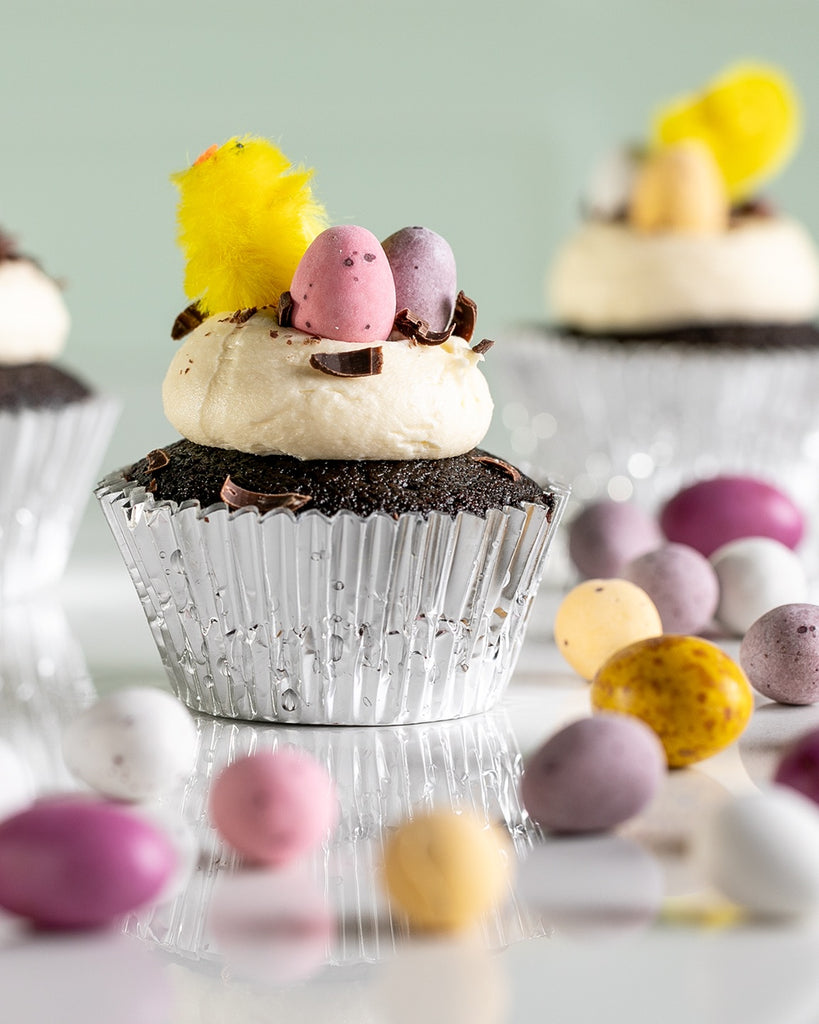 Easter Decorated Chocolate Cupcakes
