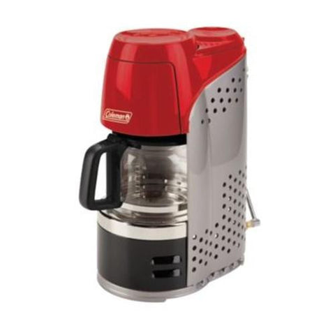 Coleman 10 Cup Portable Prpn Coffmker Rd-Blk-Gry 2000020942-Stoves-Coleman-Garibaldi General