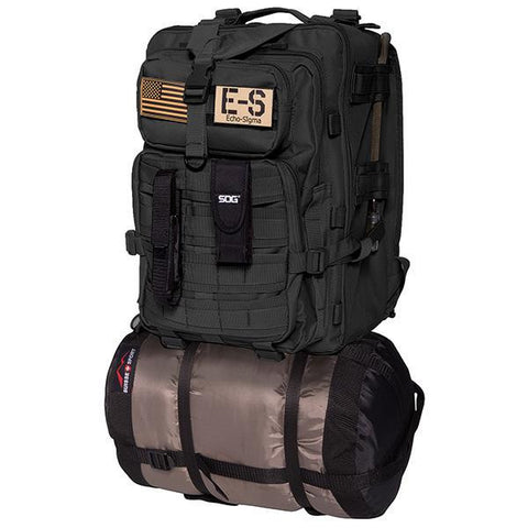 Echo-Sigma Emergency Bug Out Bag Black-Survival & First Aid Kits-Echo-Sigma Emergency Systems-Garibaldi General