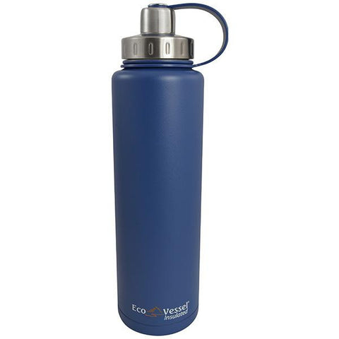 Eco Vessel Bigfoot Triple Insulated Water Bottle - Blue 45 oz.-Beverage Containers-Eco Vessel-Garibaldi General