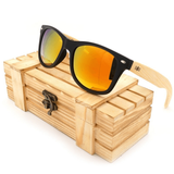 Garibaldi General Washburn Classic Bamboo Sunglasses-Sunglasses-Garibaldi General-Gold Lens-Garibaldi General