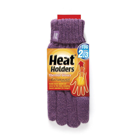 Heat Holders Ladies Thermal Gloves - Purple S-M-Hand & Foot-Heat Holders-Garibaldi General