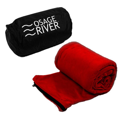 Osage River Microfiber Fleece Sleeping Bag Liner - Red-Sleeping Bags-Osage River Gear-Garibaldi General