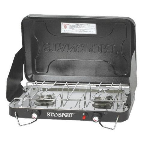 Stansport 2 Burner Stove Piezo Igniter with Drip Pan-Stoves-Stansport-Garibaldi General