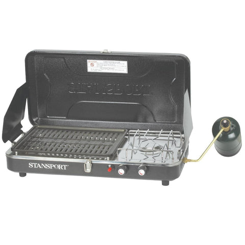 Stansport Propane Stove and Grill Combo with Piezo Igniter-Stoves-Stansport-Garibaldi General