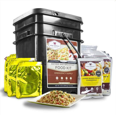 Wise Foods 84 Serving Breakfast & Entree Grab N Go - Gluten Free Kit-Food-Wise Foods-Garibaldi General