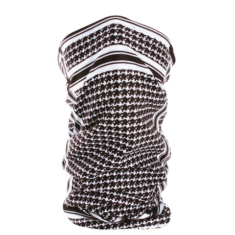 ZANheadgear Fleece Lined Motley Tube - BandW Houndstooth-Head & Neck-ZANheadgear-Garibaldi General