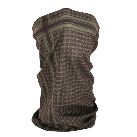 ZANheadgear Fleece Lined Motley Tube - Olive Houndstooth-Head & Neck-ZANheadgear-Garibaldi General