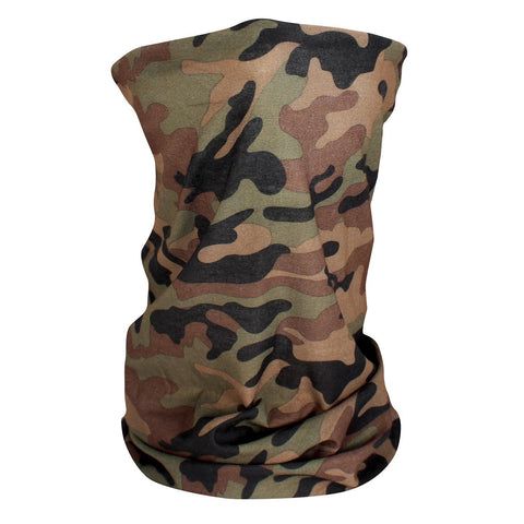 ZANheadgear Fleece Lined Motley Tube -Woodland Camo-High-Vis-Head & Neck-ZANheadgear-Garibaldi General