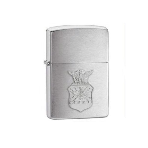 Zippo Brushed Chrome US Air Force Crest Emblem Lighter-Lighters & Fire Starters-Zippo-Garibaldi General