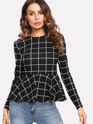 Blouse Top péplum - WENDIZ