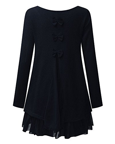 ZANZEA Femme Sweater Tricot Lâce Manche longue Haut Pull Mini-robe Cardigan Sweats Bleu EU 44/ US 12 UK 16