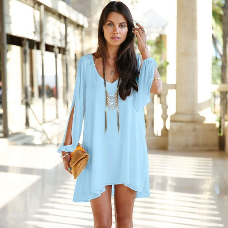 Robe fashion col V vacances