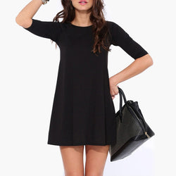 Women Half Sleeve Casual Dress