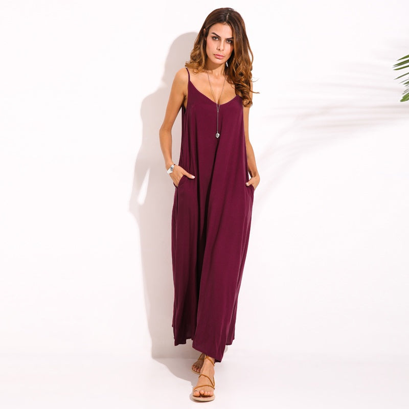Oversize Women Summer Evening Cocktail Party Beach Long Maxi Dress BOHO