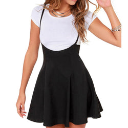 New Hot Sale Fashion Women Black Strap Skater Dress Skirt High Quality Summer Mini Dress
