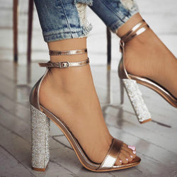 Women Sandals Fashion Strap Sandal Sexy High Heel Party Dress Sandalias Summer Style Casual Shoes