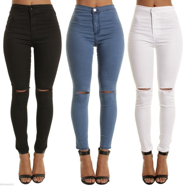 JEANS JEGGINGS STRETCHY LEGGINGS JEANS JEGGINGS PANTALON DENIM FEMME