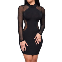 Women Bodycon Dress Evening Party Dress Cocktail Club Short Mini Dress