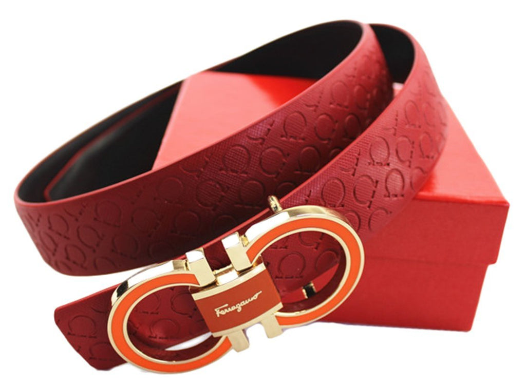 Ferragamo Adjustable Belt Red - WENDIZ