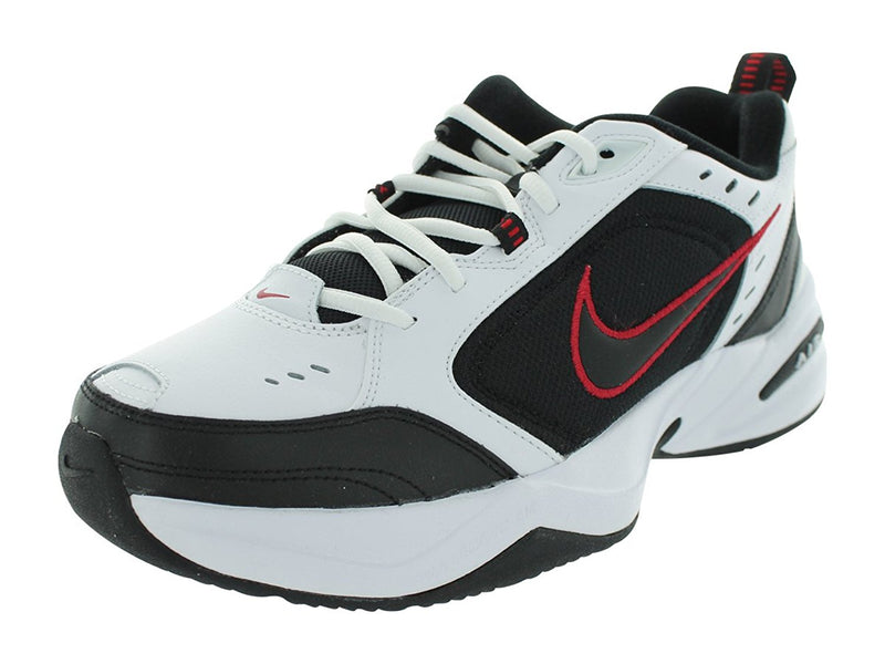Nike Mens Air Monarch IV Training Shoe (White / Black / Varsity Red, 12 D(M) US)