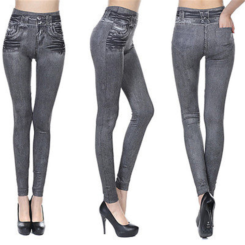 Jean skin jeggings stretch slim crayon en coton - WENDIZ