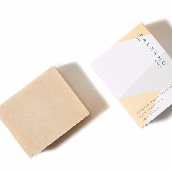 Palermo Soothing Coconut, Oatmeal Soap, Organic, Wild Harvested, The Moment, Natural Beauty