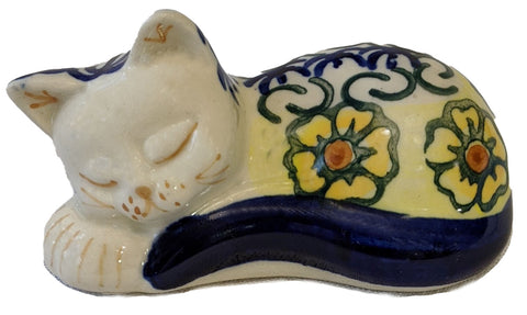 "Sleeping Cat; 3.5"" x 2"" x 2"""
