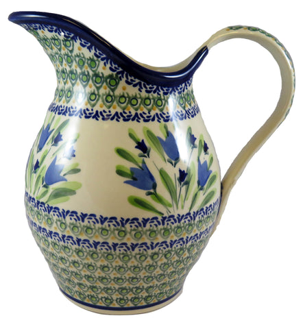 "Large Pitcher, Utensil Jar, Vase; 56 oz, 8.5"" x 8"""