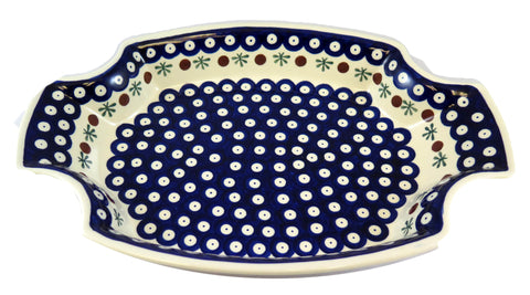 "Unique Serving Tray, Dish; 13"" x 9"" x 1.75"""