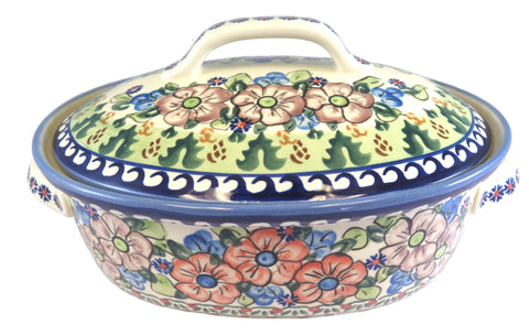 "Large Covered Casserole; 12"" x 8"" x 6"""