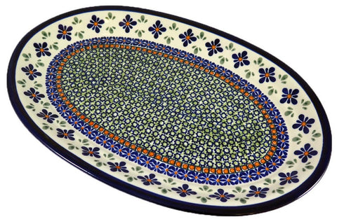 "Large Oval Platter; 14.5"" x 10"""