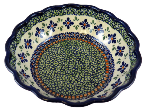 1278-DU60 medium fluted bowl top view