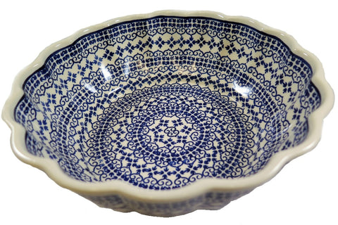 1279-922 large fluted bowl top view