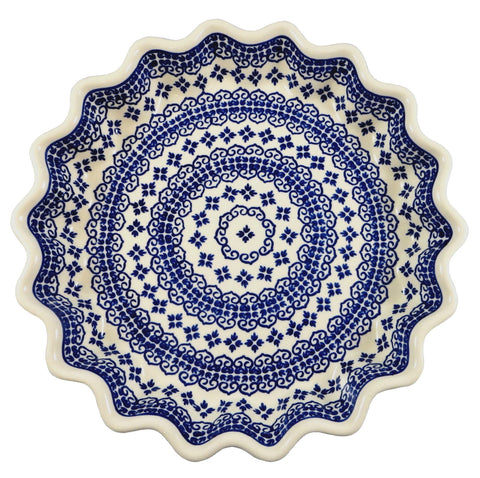 "1331-922 fluted 10"" pie plate top view"
