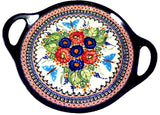 "Round Tray with Handles; 13"" x 1.5"""